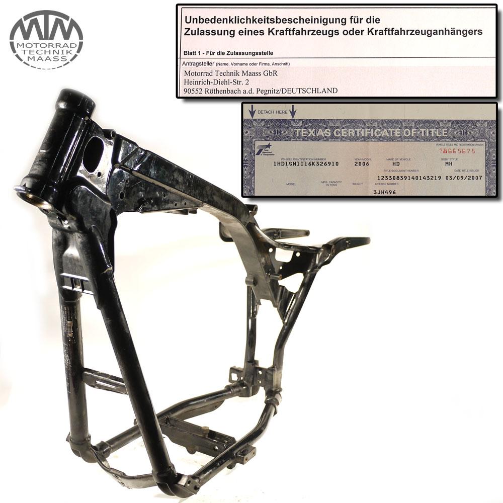Rahmen mit US Brief Harley Davidson FXD 1450 Dyna Low Rider (FXDL-I)