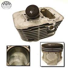 Zylinder & Kolben hinten Yamaha XV250 Virago (3LS)
