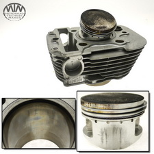Zylinder & Kolben hinten Yamaha XV535 Virago (VJ01)