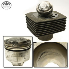 Zylinder & Kolben links Moto Guzzi 850-T5 (VR)