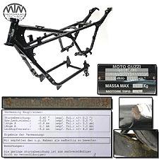 Rahmen, Brief, Schein & Messprotokoll Moto Guzzi Breva 750 ie (LL)