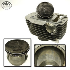 Zylinder & Kolben hinten Yamaha XV750 Virago (4PW)
