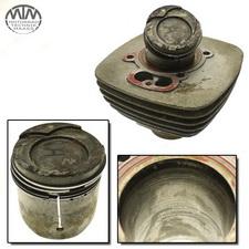 Zylinder & Kolben hinten Moto Morini 3 1/2