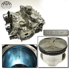 Motorgehäuse, Zylinder & Kolben Honda VF750C Magna (RC43)