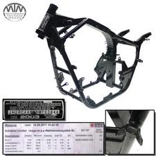 Rahmen, US Title & Vermessungsprotokoll Honda VT750C Shadow (RC44)
