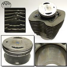 Zylinder & Kolben vorne Harley Davidson FXST 1450 Softail