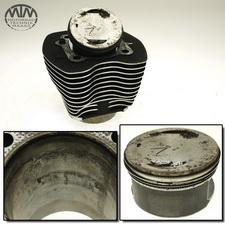 Zylinder & Kolben vorne Harley Davidson FXSTD-I 1450 Softail Deuce