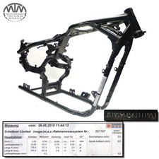 Rahmen, US Title, U-Bescheinigung & Messprotokoll Suzuki VL800 Intruder (WVBM)