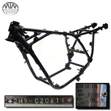 Rahmen, Fahrzeugbrief, Abmeldebescheinigung & Messprotokoll Yamaha XS1100 (2H9)