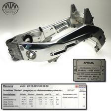 Rahmen, Fahrzeugbrief, Schein & Messprotokoll Aprilia RSV1000 Mille (ME)