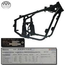 Rahmen, Fahrzeugbrief, Schein & Messprotokoll Kawasaki VN800 Classic