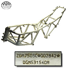 Rahmen, Fahrzeugpapiere & Vermessungsprotokoll Ducati 750SS (750SC)