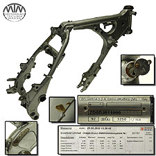 Rahmen, Fahrzeugbrief, Fahrzeugschein & Vermessungsprotokoll Yamaha TT600R Belgarda (DJ01)