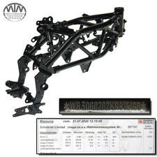 Rahmen, Fahrzeugbrief, Fahrzeugschein & Vermessungsprotokoll BMW G310GS (K02)