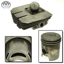 Zylinder & Kolben links Benelli 125 2C/SE