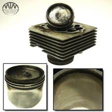 Zylinder & Kolben links Moto Guzzi V65 (PG)