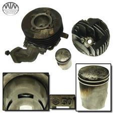 Zylinder, Zylinderkopf und Kolben Vespa PK50XL Standard