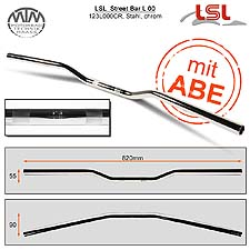 LSL Street Bar Lenker Stahl chrom 22,2mm