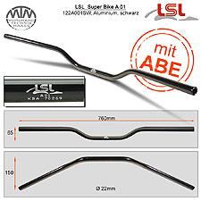 LSL Superbike Lenker A01 Alu schwarz poliert 22,2mm