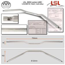 LSL BMW Lenker Stahl matt-silber LMB1