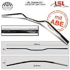 LSL Clubman Lenker Stahl chrom 22,2mm