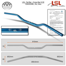 LSL Fat Bar - Cross Bar Lenker Alu blau X00