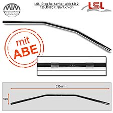 LSL Drag Bar, wide Lenker Stahl chrom 22,2mm