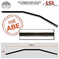 LSL Drag Bar, wide Lenker Stahl schwarz 22,2mm