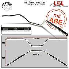 LSL Touren Lenker Stahl chrom 22,2mm