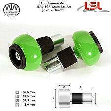 LSL Crash Ball Lenkerenden grün für LSL Stahllenker