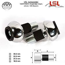 LSL Crash Ball Lenkerenden chrom für LSL Stahllenker