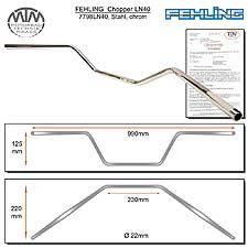 Fehling Lenker halbhoch & breit LN40 22mm chrom