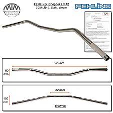 Fehling Lenker flach & breit LN42 22mm chrom