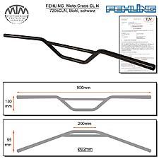 Fehling Moto-Cross Lenker CLN 22mm schwarz