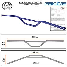 Fehling Moto-Cross Lenker CLN 22mm blau