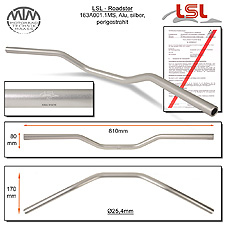 LSL Roadster Lenker Alu silber matt A01.1 in 1 Zoll