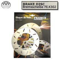 France Equipment Bremsscheibe hinten 184mm Kawasaki KX100 1988-2004