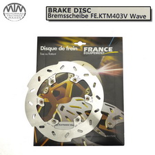 France Equipment Wave Bremsscheibe hinten 220mm Gas-Gas TT125 Enducross 1997-1999