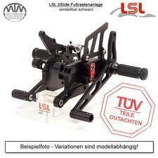 LSL 2Slide Fußrastenanlage Kawasaki ZX-6R / RR (ZX636B/600K) 03-04 inkl. Bremsleitung