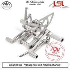 LSL Fußrastenanlage silber Moto Guzzi V9 Bobber (LHA) 16-