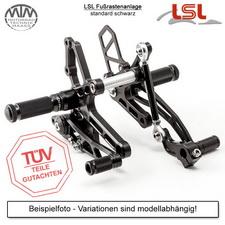 LSL Fußrastenanlage schwarz Yamaha V-Max 85-04 inkl. Bremsleitung