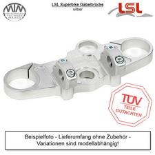 LSL Superbike Gabelbrücke für Suzuki GSX-R750 (WVCF/CW) 06-10 in Silber