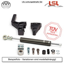 LSL Lenkungsdämpfer Set Triumph Speed Triple 1050 (515N) 05-10