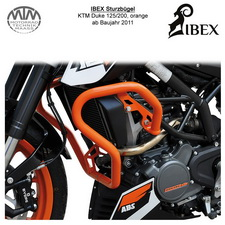 IBEX Sturzbügel KTM Duke 125/200 (11-) Orange