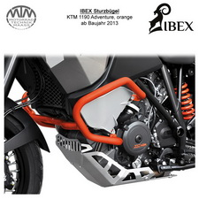 IBEX Sturzbügel KTM 1190 Adventure 13- orange