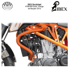 IBEX Sturzbügel KTM 690 Duke 12- Orange