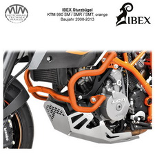 IBEX Sturzbügel KTM 990 SM/SMR/SMT 08-13 Orange