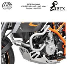 IBEX Sturzbügel KTM 990 SM/SMR/SMT 08-13 Silber