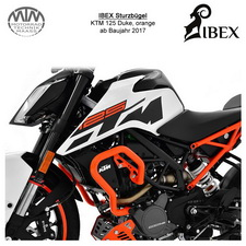 IBEX Sturzbügel KTM 125 Duke 17- orange