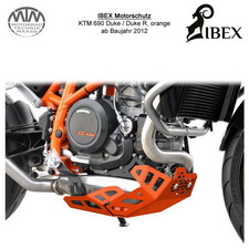 IBEX Motorschutz KTM Duke 690R 12- orange